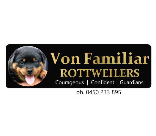 Von Familiar Rottweilers Logo